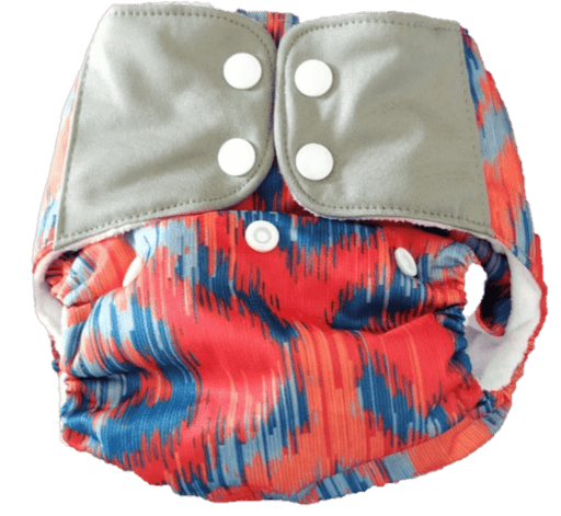 The Nestery: Supperbottoms - UNO ALL-IN-ONE REUSABLE CLOTH DIAPER WITH 2 ORGANIC COTTON DRY-FEEL SOAKERS [DAY & NIGHT USE] - IKAT LOVE