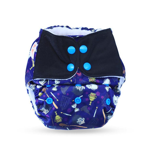 The Nestery: Supperbottoms - UNO ALL-IN-ONE REUSABLE CLOTH DIAPER WITH 2 ORGANIC COTTON DRY-FEEL SOAKERS [DAY & NIGHT USE] - MISCHIEF MANAGED