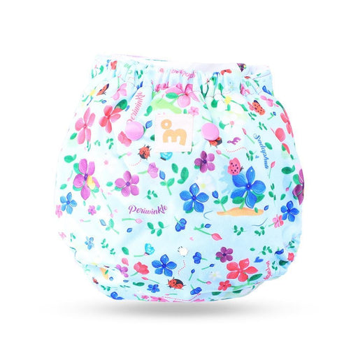 The Nestery: Supperbottoms - UNO ALL-IN-ONE REUSABLE CLOTH DIAPER WITH 2 ORGANIC COTTON DRY-FEEL SOAKERS [DAY & NIGHT USE] - PERIWINKLE