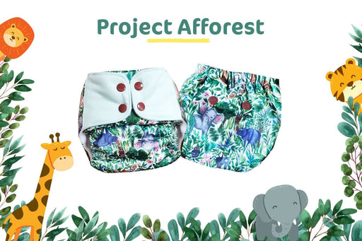 The Nestery: Supperbottoms - UNO ALL-IN-ONE REUSABLE CLOTH DIAPER WITH 2 ORGANIC COTTON DRY-FEEL SOAKERS [DAY & NIGHT USE] - PROJECT AFFOREST