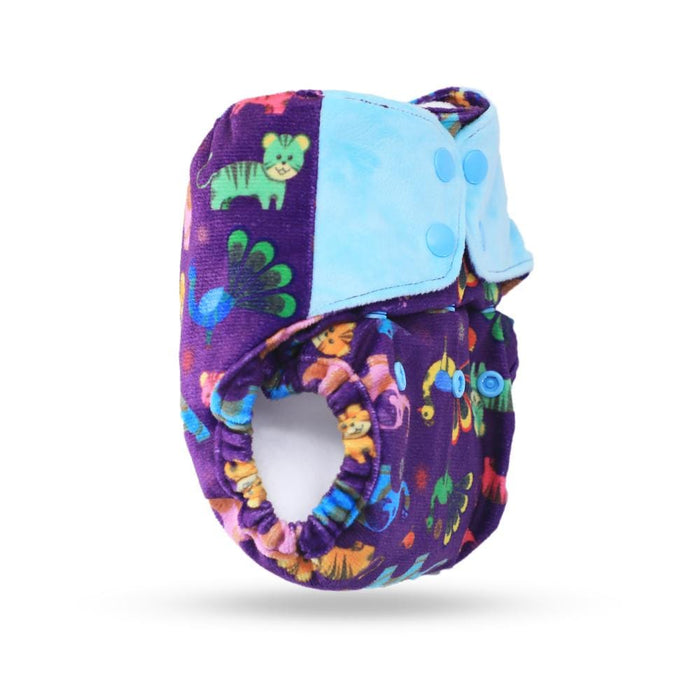 The Nestery: Supperbottoms - UNO ALL-IN-ONE REUSABLE CLOTH DIAPER WITH 2 ORGANIC COTTON DRY-FEEL SOAKERS [DAY & NIGHT USE] - PURPLE LOVE
