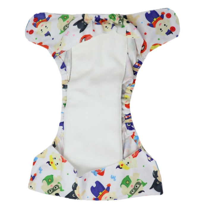 The Nestery: Supperbottoms - UNO ALL-IN-ONE REUSABLE CLOTH DIAPER WITH 2 ORGANIC COTTON DRY-FEEL SOAKERS [DAY & NIGHT USE] - SUPER KID