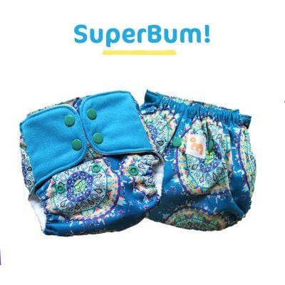 The Nestery: Supperbottoms - UNO ALL-IN-ONE REUSABLE CLOTH DIAPER WITH 2 ORGANIC COTTON DRY-FEEL SOAKERS [DAY & NIGHT USE] - SUPERBUM