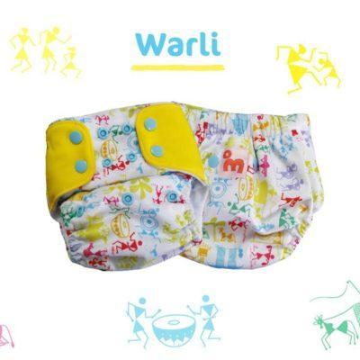 The Nestery: Supperbottoms - UNO ALL-IN-ONE REUSABLE CLOTH DIAPER WITH 2 ORGANIC COTTON DRY-FEEL SOAKERS [DAY & NIGHT USE] - WHITE WARLI