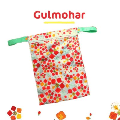 The Nestery: Superbottoms - WET BAG  - GULMOHAR