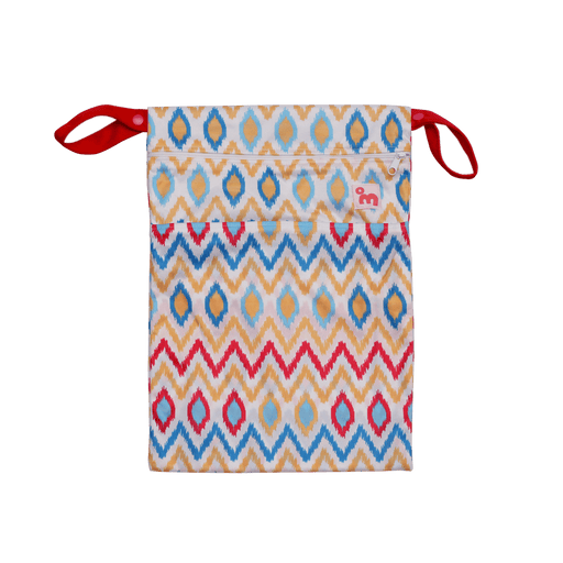 The Nestery: Superbottoms - WET BAG  - IKAT CHEVRON