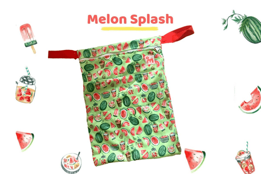 The Nestery: Superbottoms - WET BAG  - MELON SPLASH