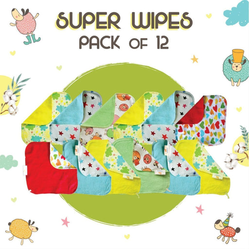 The Nestery: Superbottoms - Baby Wipes - Set Of 12 Wipes