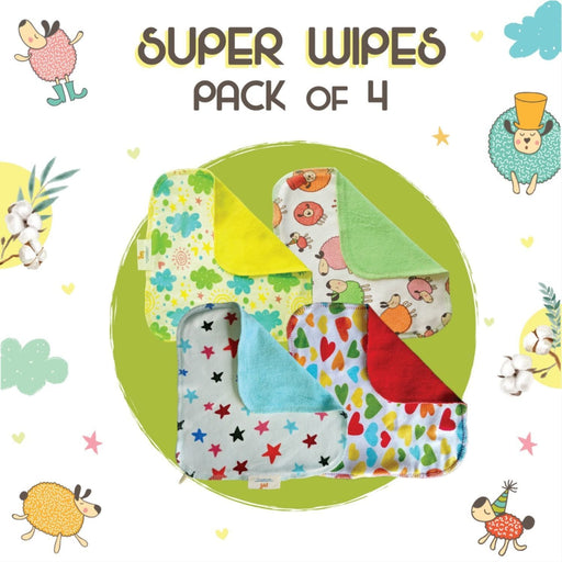 The Nestery: Superbottoms - Baby Wipes - Set Of 4 Wipes
