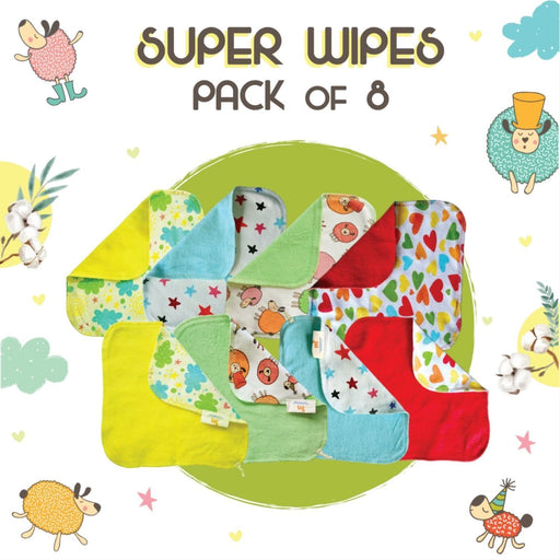 The Nestery: Superbottoms - Baby Wipes - Set Of 8 Wipes