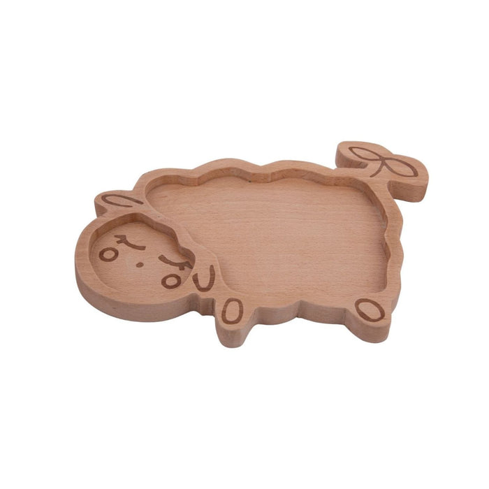 WOODEN SHEEP PLATE