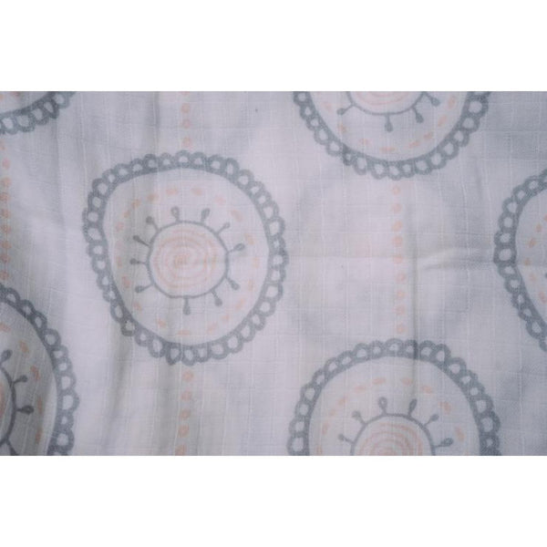 The Nestery: Thalelo - Muslin Swaddles - Set Of 2 - Mandala Pastel