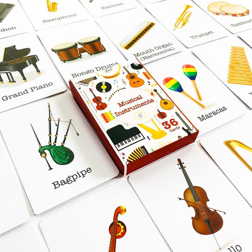 The Nestery : The Curious Bees - Musical Instruments - Flash Cards