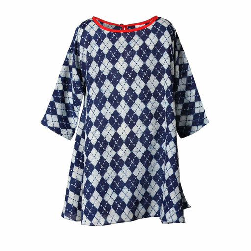The Nestery : Masumi - Flare Dress - Jaipur Indigo