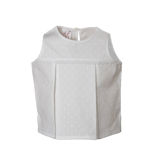 The Nestery : Masumi - Sleeveless Top - White Rambuta