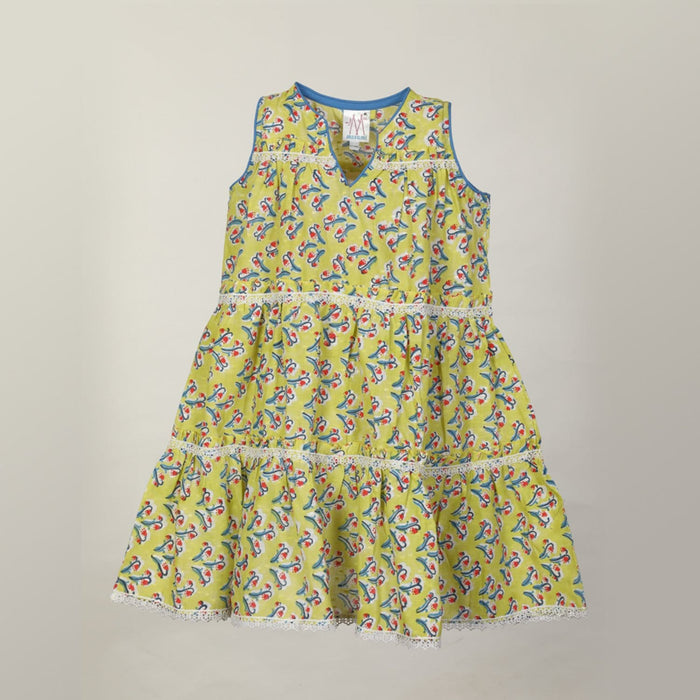 The Nestery : Masumi - Tiered Dress - Floral