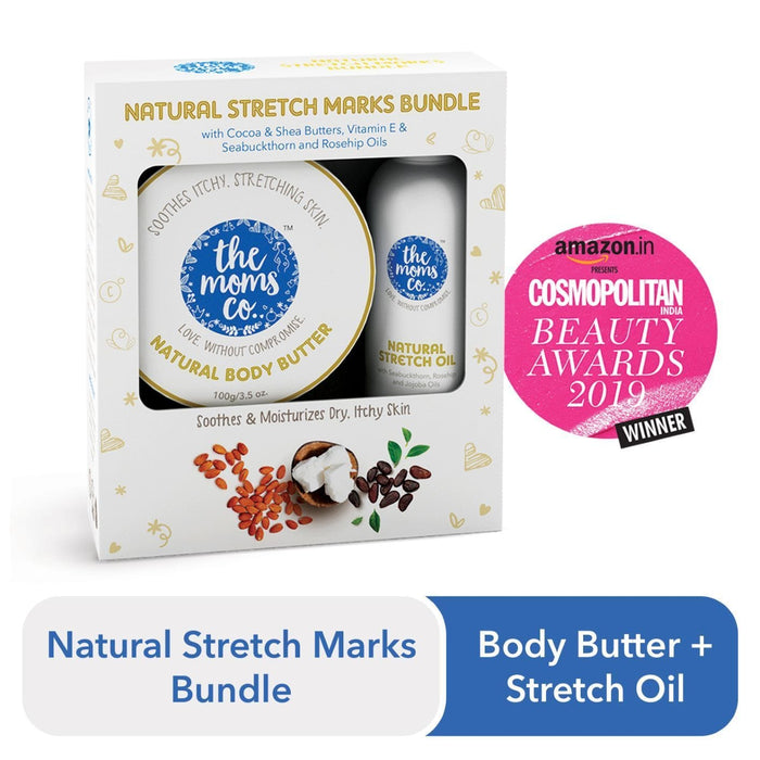 The Nestery: The Moms Co - 7 In 1 Natural Stretch Bio Oil And Natural Body Butter For Preventing Stretch Marks