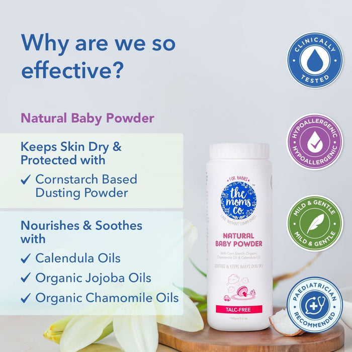 The Nestery: The Moms Co - Natural Baby Powder