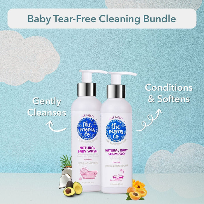 The Nestery: The Moms Co - Natural Tear-Free Cleaning Bundle For Baby
