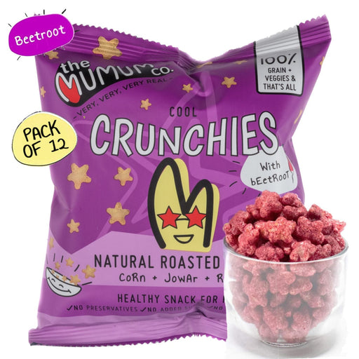 The Nestery : The Mumum Co. - Cool Crunchies - Beetroot - Pack Of 12 (20Gm X 12)