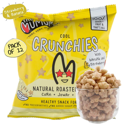 The Nestery : The Mumum Co. - Cool Crunchies - Strawberry Banana - Pack Of 12 (20Gm X 12)