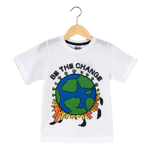 The Nestery : The Talking Canvas - Be The Change Kids T-Shirt - White