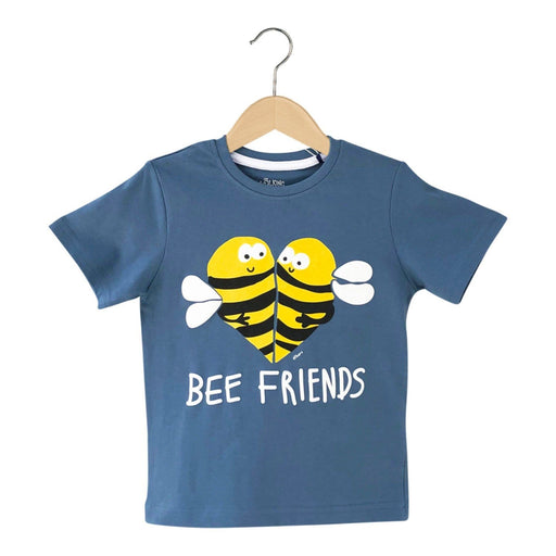 The Nestery : The Talking Canvas - Bee Friends T-Shirt - Grey