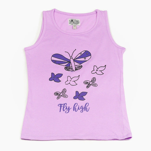The Nestery : The Talking Canvas - Butterfly Tank Top - Purple