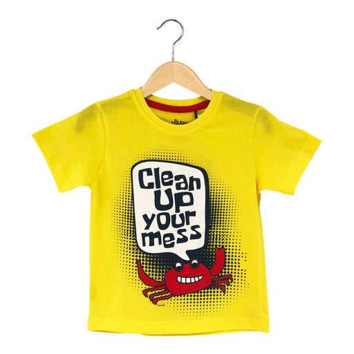 The Nestery : The Talking Canvas - Clean Up Your Mess T-Shirt - Yellow