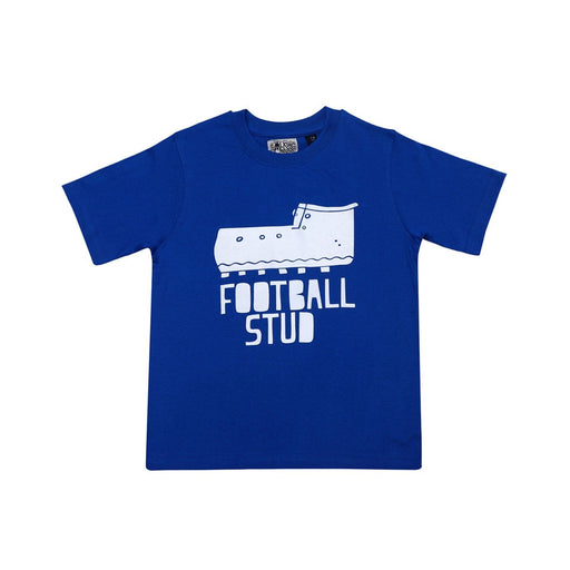 The Nestery : The Talking Canvas - Football Stud  Cotton T-Shirt Royal Blue