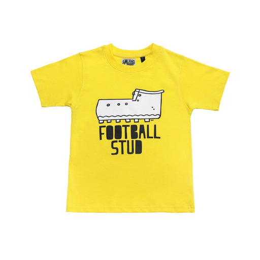 The Nestery : The Talking Canvas - Football Stud  Cotton T-Shirt Yellow