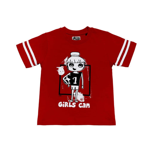 The Nestery : The Talking Canvas - Girls Can Regular T-Shirt - Red
