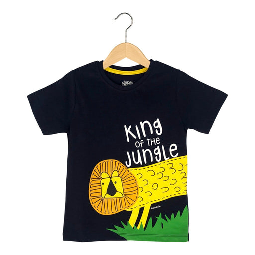The Nestery : The Talking Canvas - King Of The Jungle T-Shirt - Navy Blue