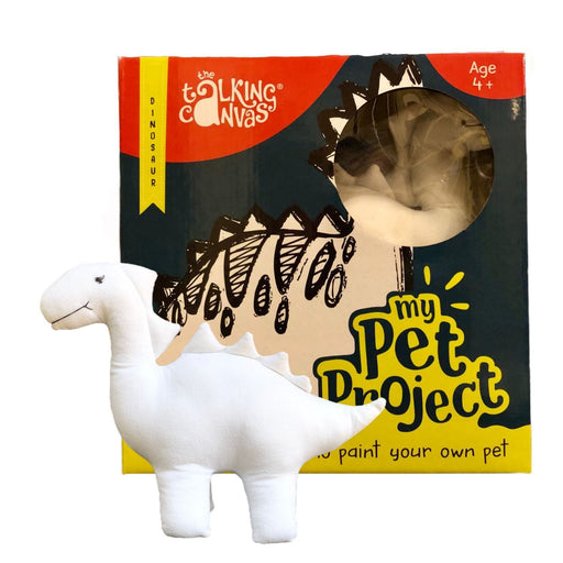 The Talking Canvas - MY PET PROJECT DINOSAUR - DIY STUFFED TOY PAINTING KIT FOR KIDS