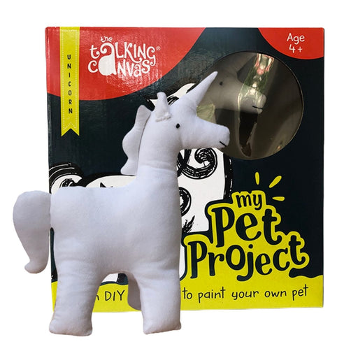 The Talking Canvas - MY PET PROJECT UNICORN - DIY STUFFED TOY PAINTING KIT FOR KIDS