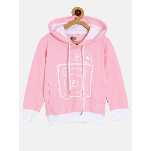 The Nestery : The Talking Canvas - Peak-A-Boo Bear  Hoodie - Pink