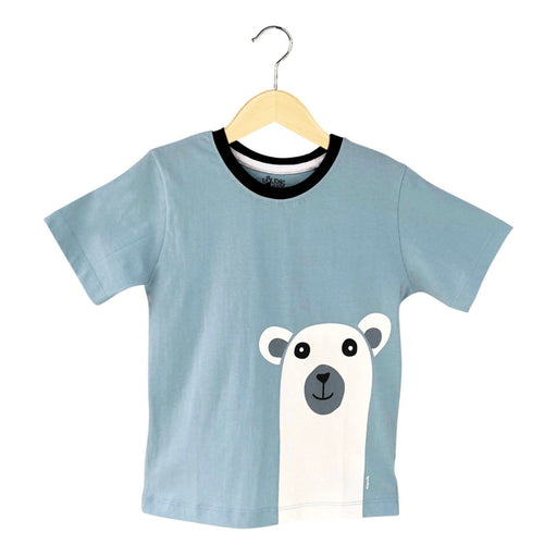 The Nestery : The Talking Canvas - Polar Bear Kids T-Shirt - Blue