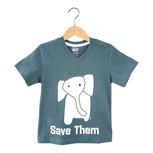 The Nestery : The Talking Canvas - Save Them Elephant T-Shirt - Grey