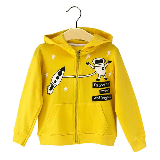 The Nestery : The Talking Canvas - Space Themed Hoodie - Yellow