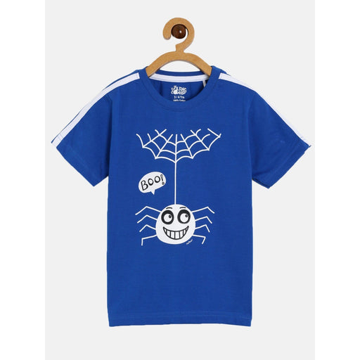 The Nestery : The Talking Canvas - Spider Half Sleeve T-Shirt - Blue