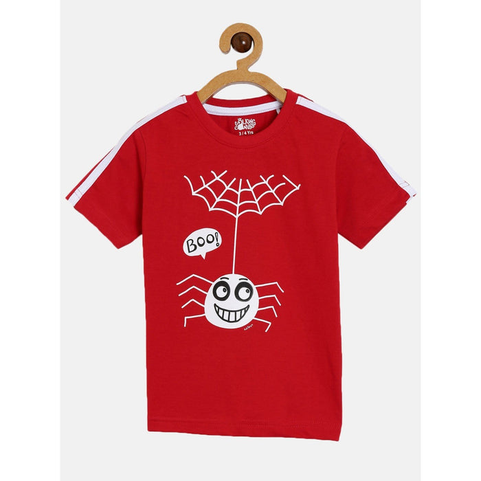 The Nestery : The Talking Canvas - Spider Half Sleeve T-Shirt- Red