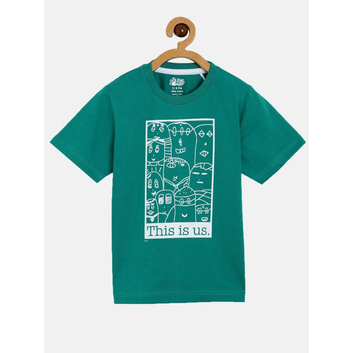 The Nestery : The Talking Canvas - This Is Us Regular Half Sleeve T-Shirt - Green