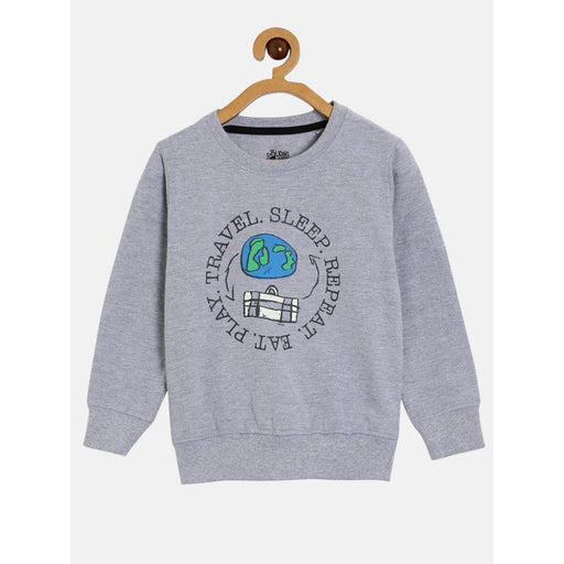 The Nestery : The Talking Canvas - Travel On Repeat Sweatshirt - Grey