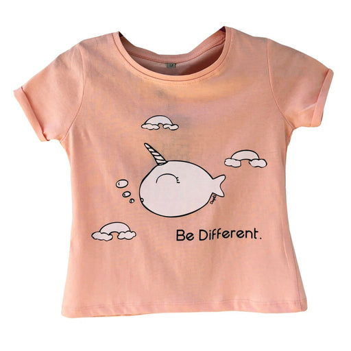 The Nestery : The Talking Canvas - Unicorn Whale Crop Top - Peach