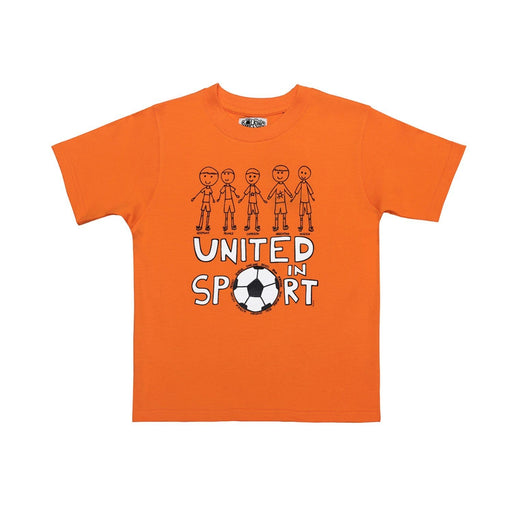 The Nestery : The Talking Canvas - United In Sport Half Sleeve T-Shirt - Orange