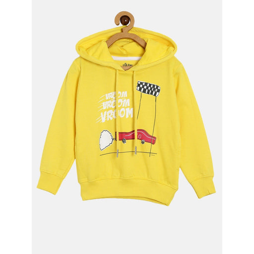The Nestery : The Talking Canvas - Vroom Vroom Hoodie - Yellow