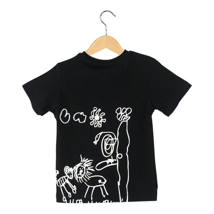 The Nestery : The Talking Canvas - Wild Life Doodle T-Shirt - Black