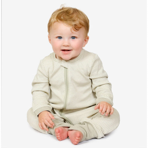 The Nestery : Tickle Tickle - Lil Fern Organic Zipup Sleepsuit