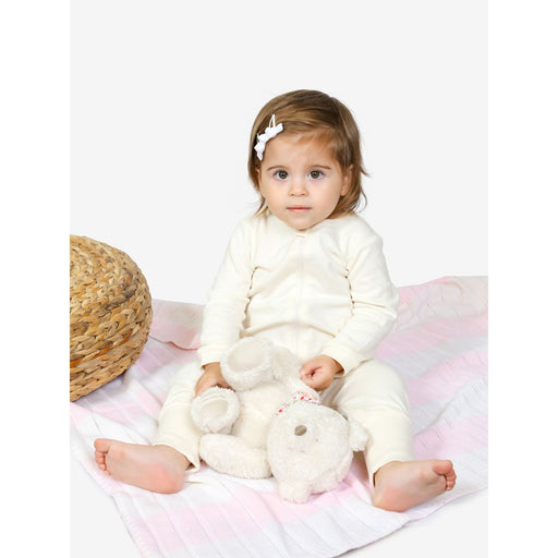 The Nestery : Tickle Tickle - Lil Vanilla Organic Zipup Sleepsuit