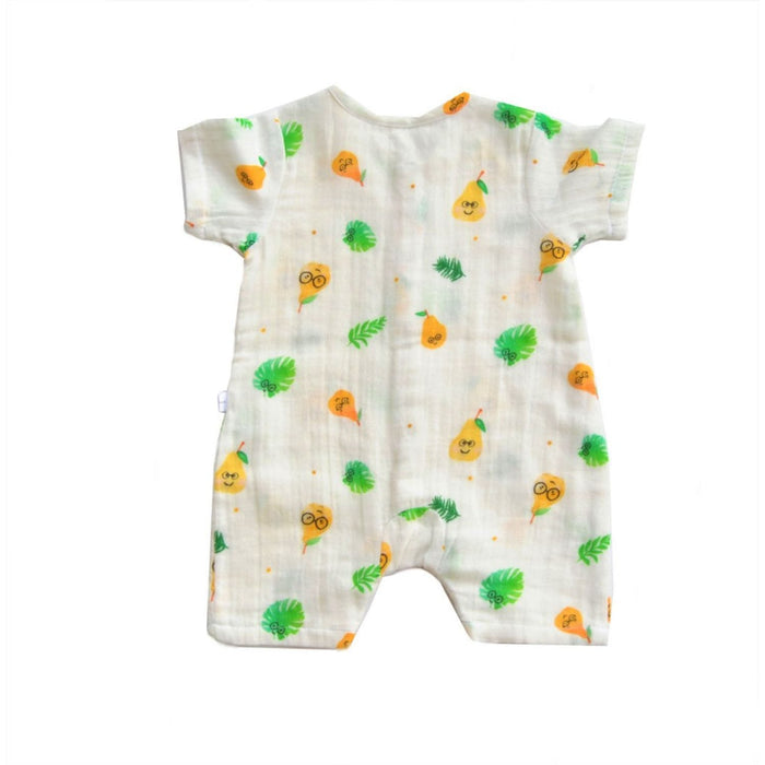 The Nestery : Tickle Tickle - Organic Muslin Romper - Poppet Pear